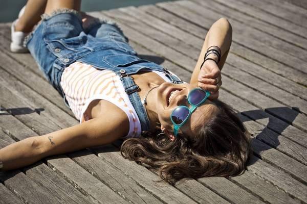 lunettes de soleil femme brun