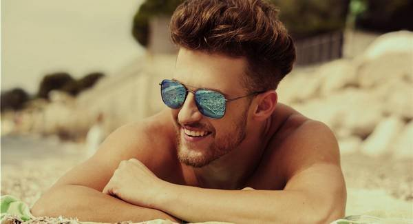 lunettes de soleil metal homme